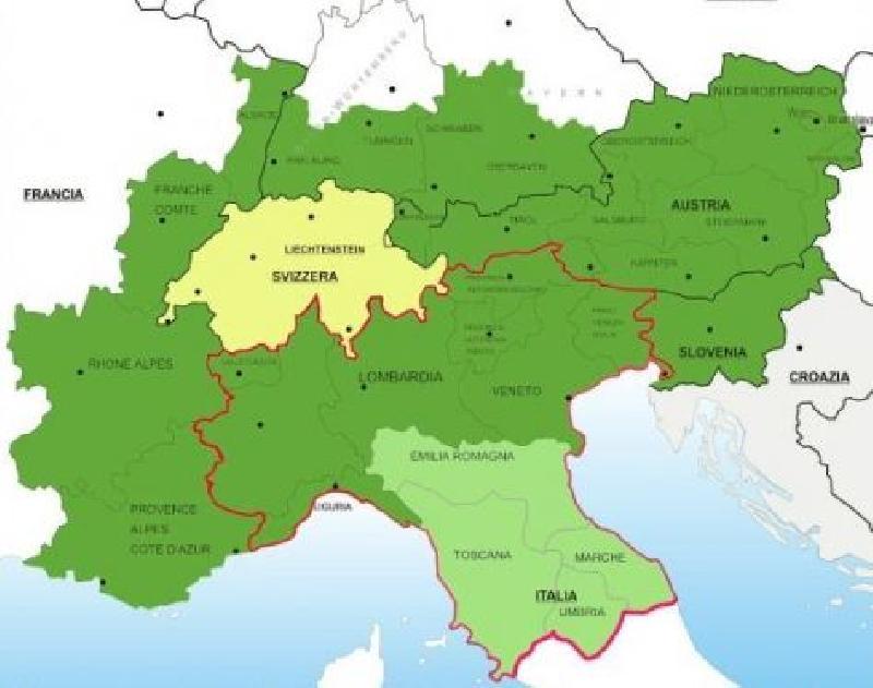 Piemonte E Lombardia Cartina.Sivemp Piemonte